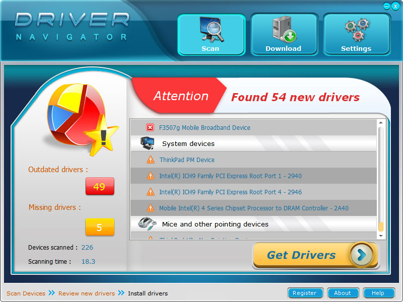 Official Drivers Download with Driver Navigator